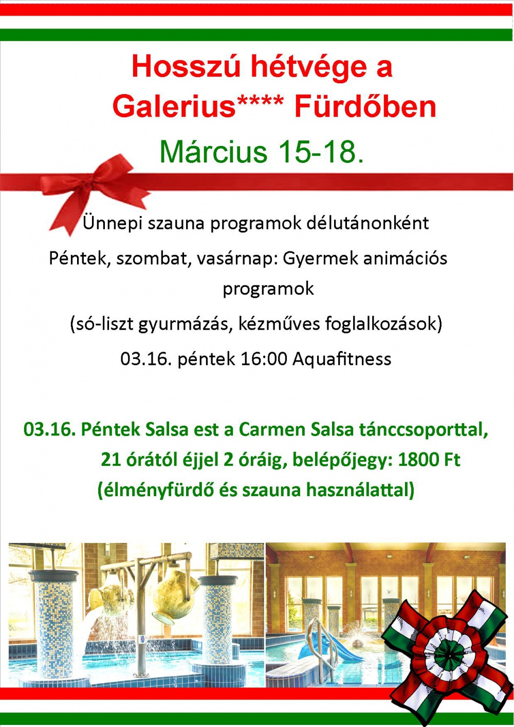 Hosszú hétvége Salsa esttel a Galerius Fürdőben